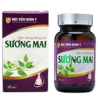 Thực phẩm chức năng Viên uống sáng da  Sương Mai Học viện quân y Việt nam  và nơ