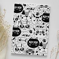 Giấy bọc sách vở giấy bao tập cute Những chú mèo đen trắng White & Black Cats
