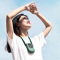 Quạt Treo Cổ Cầm Tay Mini Thời Trang - 3 Cấp Độ Gió - Sạc USB Tiện Lợi Cho Du Lịch Dã Ngoại Cắm Trại Hàng Chính Hãng