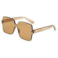 Retro Square Rimless Plastic Outdoor Sunglasses Men