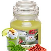 Ly nến thơm tinh dầu Bartek Green Tea Pudding 130g QT0462 - matcha trà xanh (giao mẫu ngẫu nhiên)