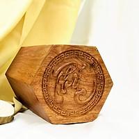 Hộp đựng trà chữ Phúc gỗ hương
