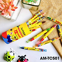 Bút sáp vặn ống 12 màu AM-TC501
