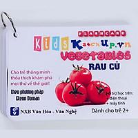 Bộ KatchUp Flashcard cho bé Tiếng Anh – Rau củ – High Quality