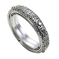 Astronomical Ball Ring Cosmic Finger Ring Couple Jewelry Silver Plated 6