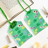 Túi gấm Omamori sức khỏe lục điệp có kèm túi chống nước Túi Phước May Mắn dây treo trang trí