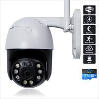 Camera Wifi An Ninh Ngoài Trời Xoay 360 Độ, Chống Nước, Độ Phân Giải 3.0Mpx 2304x1296P FULL HD+, Kết Nối Điện Thoại, Máy Tính, Smart TV - Chính Hãng