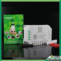 Công tắc điều khiển từ xa bằng điện thoại Hunonic Lahu 4 kênh 500W/kênh + Hẹn giờ thông minh   Công nghệ 4.0