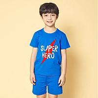Bộ đồ ngắn tay mặc nhà cotton mịn cho bé trai U3024 - Unifriend Hàn Quốc, Cotton Organic