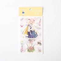 Sticker bảng họa tiết cô gái Nhật cute 20x10cm