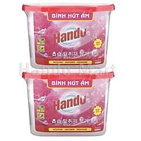 Combo 2 Hộp Hút Ẩm HANDO Khử Mùi Nấm Mốc Hương Hoa Hồng 450ml