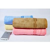 Combo 3 khăn tắm sợi tre 60x120 cm - 370Gr dùng trong gia đình Cao Cấp (Giao màu ngẫu nhiên)