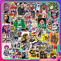 Chủ Đề Hiphop | Set 50 Hình Sticker PVC Chống Thấm Nước