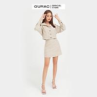 Chân váy nữ caro GUMAC phong cách Hàn Quốc sang trọng VB432