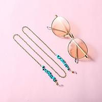 Eyeglasses Chain Retro Turquoise Vintage Metal Non-slip Glasses Chain