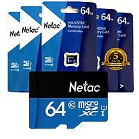 Combo 05 Thẻ Nhớ 64G MicroSD NETAC Class 10  - Hàng chính hãng.
