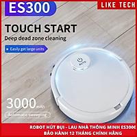 Robot Hút Bụi Lau Nhà ES300 Cao Cấp 3 Trong 1,Pin 3000MAh Đèn Led Cảm Biến Chạm, Chống Va Chạm Thông Minh Mẫu Mới 2020