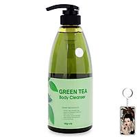 Sữa tắm tinh chất trà xanh Welcos Green Tea Body Cleanser 740ml + Móc khóa