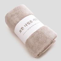 Khăn tắm Hàn Quốc cao cấp-siêu mềm min-140x70-(Tặng mèo chiêu tài-giao màu ngẫu nhiên)
