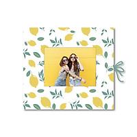 Sổ tay dán ảnh - Crabit Notebuck - Ruột mix dot và trơn - Lemon (19x21cm)