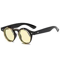 Europe and America Style Retro Punk Metal Flip Sunglasses Female Personal Sunglasses Round Sun Glasses