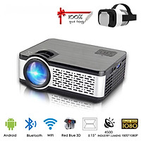 Máy Chiếu Siêu Nét W5 Projector Hỗ Trợ Độ Phân Giải 1080P Độ Sáng 4000Lumens Kết Nối Bluetooth 4.0, Wifi,USB/HDMI * 2/AV/VGA/SD Kèm Kính Thực Tế Ảo Vr Box (Màu Giao Ngẫu Nhiên)