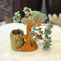 Cây Tài Lộc Thạch Anh Xanh Ống Bút
