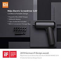 Tuốc nơ vít điện thiết kế không dây 5N.M mô-men xoắn 12PC S2 Bit PH H SL Xiaomi Mijia Electric Screwdriver 3.6V 2000mah