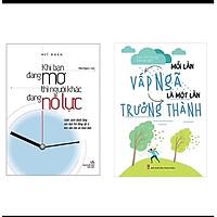 Combo Sách Kỹ Năng Sống: Mỗi Lần Vấp Ngã Là Một Lần Trưởng Thành + Khi Bạn Đang Mơ Thì Người Khác Đang Nỗ Lực (Tặng Bookmark Thiết Kế Aha)