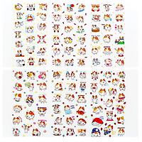 Bộ 6 Tấm Sticker Dán Trang Trí Mèo TZ18-S39 - Tặng Kèm Note Animal