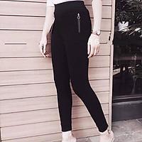 Quần legging nữ dáng dài 2 khoá sườn chất umi hàn