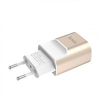 Củ Sạc Cổng Kép USB Hoco C47A  Dòng Ra 2.1A - Chính Hãng