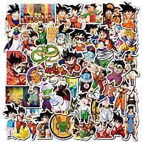 Sticker 50 miếng hình dán Dragon Ball E