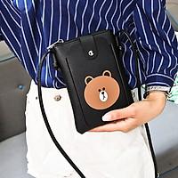 Túi đeo chéo nữ mini hình gấu đựng điên thoại di động dễ thương nhỏ gọn TN156