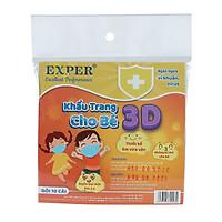 Khẩu Trang 3D Em Bé EXPER - Sản phẩm giành cho bé dưới 5 tuổi, Bịch 10 cái