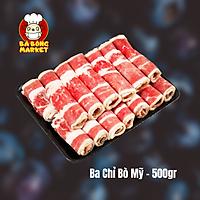 [Chỉ Giao HCM] - Thịt Ba Chỉ Bò Mỹ cắt mỏng (short Plate USA) - 500gr