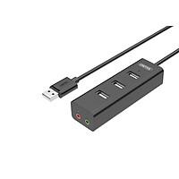Hub USB 2.0  3 Ports 2.0 + Audio  Unitek (Y-2199BK)  - HÀNG CHÍNH HÃNG