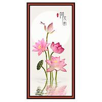 Decal trang trí hoa sen hồng LV-0216K