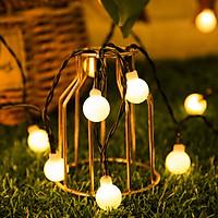 Dây Đèn LED Bóng Tròn Năng Lượng Mặt Trời Chống Nước Trang Trí Sân Vườn