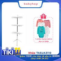 Giàn phơi đứng cao cấp cho bé 3 tầng thương hiệu Babyhop có thể gấp gọn khi không sử dụng thiết kế chống đổ có thể xoay 360 độ được làm từ nhựa nguyên sinh an toàn cho quần áo của bé - Hàng chính hãng