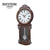Đồng hồ treo tường Nhật Bản Rhythm CMJ380CR06 - Kt 33.0 x 59.5 x 10.0cm, 3kg Vỏ gỗ. Dùng PIN.