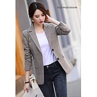 áo khoác vest blazer nữ kẻ caro chất đẹp