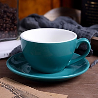 BỘ LY CAFE SỨ CAPUCHINO 220 ML ĐẸP MẮT MÀU XANH BIỂN