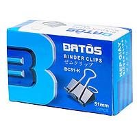 Kẹp bướm đen Batos 51mm PC-51K - Set 5 hộp, hộp 12 chiếc, kẹp sắt đen sơn tĩnh điện, chống gỉ