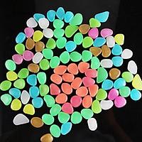 Combo 50 viên đá phát sáng, sỏi phản quang trang trí hồ cá, tiểu cảnh, chậu cây, bình hoa thủy tinh