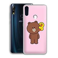 Ốp lưng dẻo cho điện thoại Zenfone Max Pro M2 - 01219 7860 BROWN19 - Hàng Chính Hãng