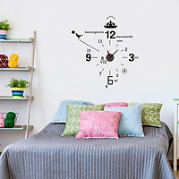 Đồng hồ treo tường kèm decal trang trí phong cách Ý AmyShop DDH012