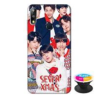Ốp lưng điện thoại Asus Zenfone Max Pro M2 hình Ban Nhạc BTS tặng kèm giá đỡ điện thoại iCase xinh xắn - Hàng chính hãng
