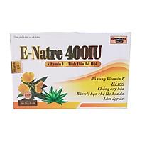 Viên uống E–Natre 400IU Bổ sung vitamin E, giúp sáng da và hạn chế lão hóa da thành phần từ lô hội và hoa anh thảo