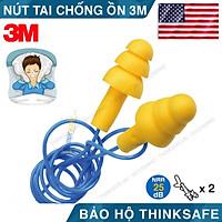 Nút tai chống ồn 3M Ultrafit 340-4004, giảm ồn khi ngủ, khi làm việc